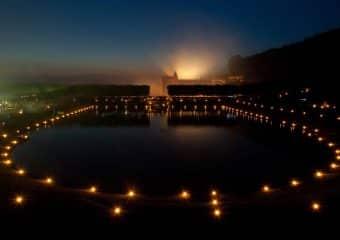Les jardins du château de Villandry à la lueur de milliers de bougies