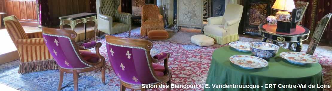 Salon des Biencourt au Château d'Azay-le-Rideau