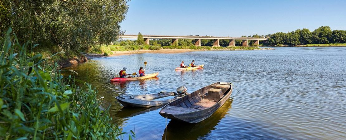 Kayaks sur la Loire