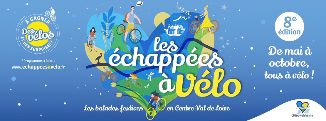 Affiche des Echappées à Vélo en région Centre-Val de Loire